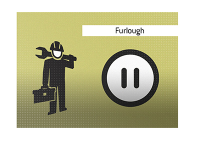 The meaning of the term Furlough is explained and illustrated.  What does it mean?